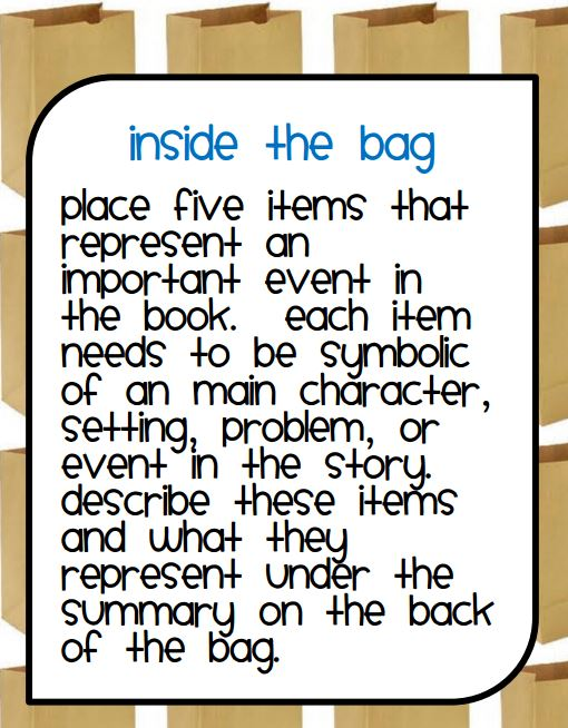 paper bag book report rubric A book report the kids do the paper bag book report rubric enjoy these paper bag book reports nearly as much as my.